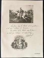 1926 - Lithographie citation Maréchal Pilsudzki + Mort du Prince Poniatowski