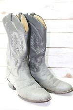 Panhandle Slim Gray Exotic Skin 9.5 D Men's Western Boots