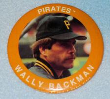 Vintage Pittsburgh Pirates WALLY BACKMAN Pin, Pinback. Baseball, MLB, Old 1990