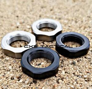 Ruger 10/22 Stainless Steel Black Nitride Muzzle Brake Washer Jam Nut 1/2-28 TPI