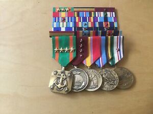 NAVY MEDAL SET WITH RIBBONS,  WAR ON TERRORISM