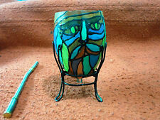 Yerba Mate gourd cup with a draw of a face uruguayo Nice!+ Gift straw