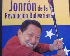 HUGO CHAVEZ + U.S. Baseball Bat / Cuban Poster for Venezuela Leader's CUBA Visit