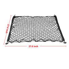 Universal Rear Trunk Black Elastic Mesh Cargo Net 4 Hook Fit For Honda CR-V