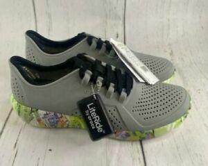 Men's Crocs Literide Neo Graff Pacer M Beach Comfort Gray 206659-0ES Size 7