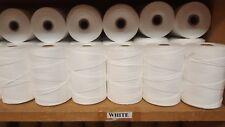 Rug Warp- Lot of 10 (1/2 lb ea) Spools- 8/4 Polyester- Color White