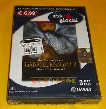 GABRIEL KNIGHT 3 Pc Versione Ufficiale Italiana ○○○○○ NUOVO SIGILLATO