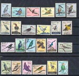 Angola 1951 Birds Set Vfu