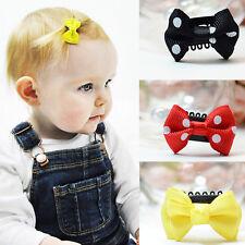 10 PCS Kids Baby Girl's Cute Bow Ribbon Hair Mini Latch Clips Hair Clip Hairpins