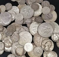 $1 Face Value - 90% Silver U.S. Coin Lot - Half Dollars, Quarters,Dimes or MIXED