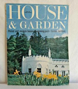 HOUSE AND GARDEN UK MAGAZINE MAY 1965 vgc