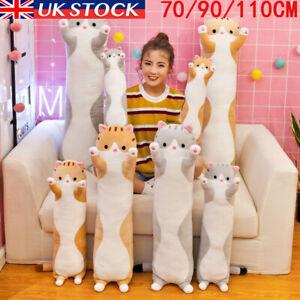 Soft Cute Plush Cat Cats Doll Stuffed Kitten Pillow Gift for Kids cushion Toy UK