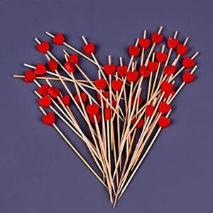 100pcs Sticks Cocktail Toothpicks for Finger Food Fruits Sandwich Party Suppli*z