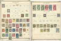 1863-1890 SWITZERLAND STAMP LOT ON ALBUM PAGE
