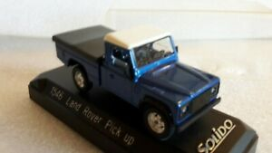 SOLIDO MADE IN FRANCE REF 1546 LAND ROVER PICK UP BLEU METALISE NEUF EN BOITE