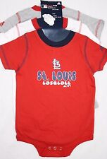 NEW Infant Toddler ADIDAS St Louis CARDINALS 3-Pack One Piece MLB Shirt Bodysuit