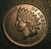 OLD US COINS 1905 INDIAN HEAD CENT PENNY FULL LIBERTY HIGHGRADE BEAUTY
