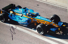 Fernando Alonso SIGNED 12x8, F1 Renault RS25 .Pre-Season Test Barcelona 2005