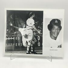 "WILLIE DAVIS - Los Angeles Dodgers Baseball - 2 Photographs on 8"" x 10"" Page"