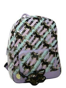 Betsey Johnson Logo Clear Backpack School Security Bookbag Unicorns Stadium NWT