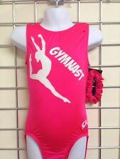 "GK Gymnastics Leotard Pink with print  24"" - CS (024G)"