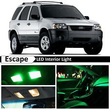 12x Green Interior License Plate LED Light Package Kit for 2001-2006 Ford Escape