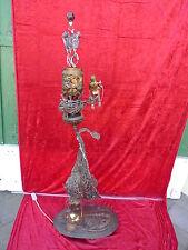 schöne Künstler-Skulpturenlampe__Metall ( Kupfer,Messing..)__Handarbeit__140cm_!