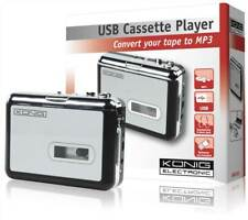 Konig USB Cassette Player (Convert your Tapes to MP3/PC) Converter