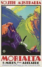 Vintage Travel Poster South Australia Morialta