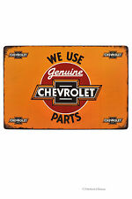 "Retro 12"" Americana Garage ""Chevrolet Parts"" Ad Man Cave Metal Wall Sign Plaque"
