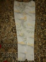 Tommy Bahama Pants 100% Silk Cropped Tropical Zip Back sz 6