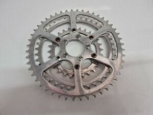 TA Triple Chainring On Adapter Vintage Racing Bike And 5 Bolts 48-40-28T  #4439