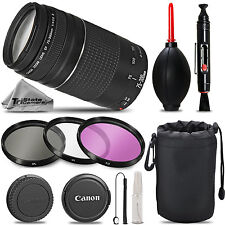 Canon EF 75-300mm f/4-5.6 III Telephoto Zoom - Must Have Kit For Canon EOS REBEL