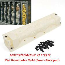 2Pcs/set 60cm Balustrades Mold Concrete Plaster Cement Plastic DIY Garden Decor