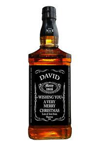 PERSONALISED JACK DANIELS CHRISTMAS WHISKEY BOTTLE LABEL WHISKY XMAS LABEL