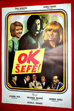 OK PATRON 1974 FRENCH JACQUES DUTRONC MIREILLE DARC C. VITAL EXYU MOVIE POSTER