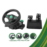 Driving Racing Gaming Control Steering Wheel Pedal PC for xbox360 PS2 PS3 J5D7E