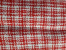 VINTAGE CHRISTMAS RED/WHITE PLACEMATS WOVEN x 2