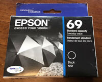 New Genuine Epson 69 Black Ink Cartridge - Standard Capacity Exp 6/2017 TO69120