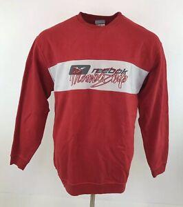 Vintage 90s Reebok Jumper Spellout Red Crew Neck Sz Large / XL Mens