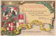 C1920) FORLI', 11 REGGIMENTO FANTERIA CASALE, FRASE DI ENCOMIO DI MUSSOLINI. VG.