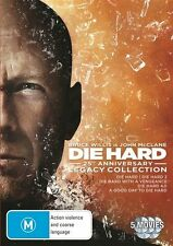 Die Hard - Legacy Collection (DVD, 2013, 5-Disc Set) VERY GOOD