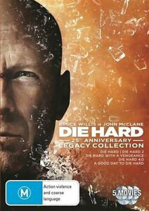 Die Hard - Legacy Collection (DVD, 2013, 5-Disc Set)