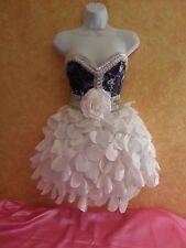 DENIM & DIAMONDS CLOUD CORSET TAFFETA PETAL TUTU SKIRT DRESS PARTY PROM BRIDAL