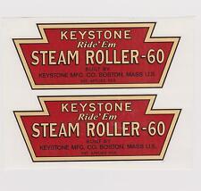 KEYSTONE  RIDE'EM  STEAM  ROLLER-60  DECAL SET