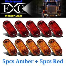 5 Amber 5 Red LED Side Marker Light Lamp Truck Trailer Lorry Caravan Waterproof