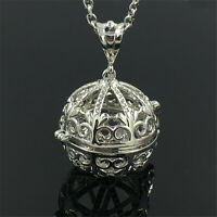 Silver Locket Necklace Fragrance Essential Oil Aromatherapy Diffuser Pendant !!!