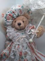 VINTAGE TEDDY BEAR BY BEARLY PEOPLE LIMITED EDITION BY CHERYL BARNERT 1991