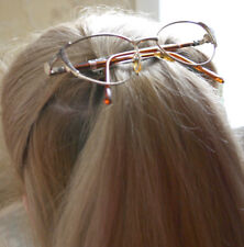Hair barrette upcycled golden spectacles hairslide Lady Gaga style metal glasses