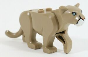 LEGO MOUNTAIN LION MINIFIGURE 60174 ZOO ANIMAL BIG CAT SAFARI - GENUINE